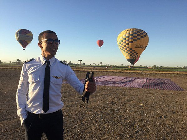 Hot Air Balloon Luxor and Pilot