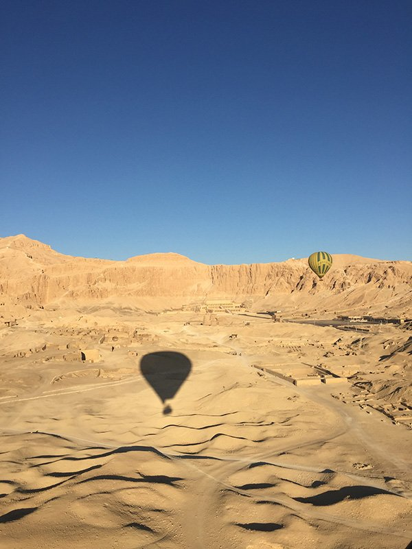 Hot Air Ballooning over the West Bank of the Nile
