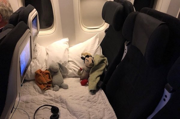 Air NZ Skycouch review: Blanket and pillows to make the journey much more comfortable