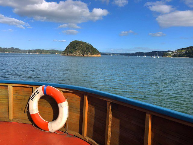 "Bay of Islands aboard ""the Rock"""