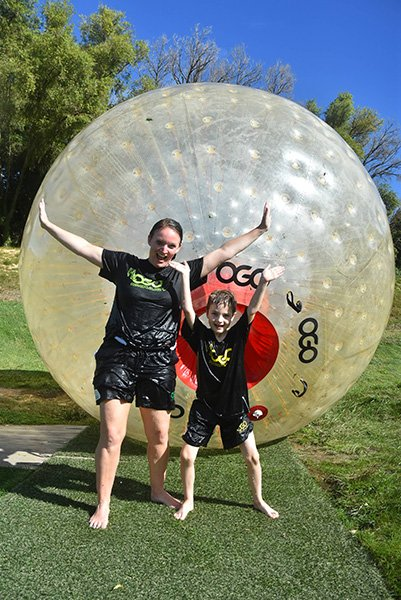 Downhill Ball Rolling | Zorbing | Rotorua Adventure Things to do | #rotorua #ogo