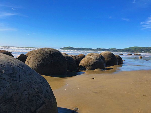 Moeraki Boulders on the Beach in New Zealand, South Island