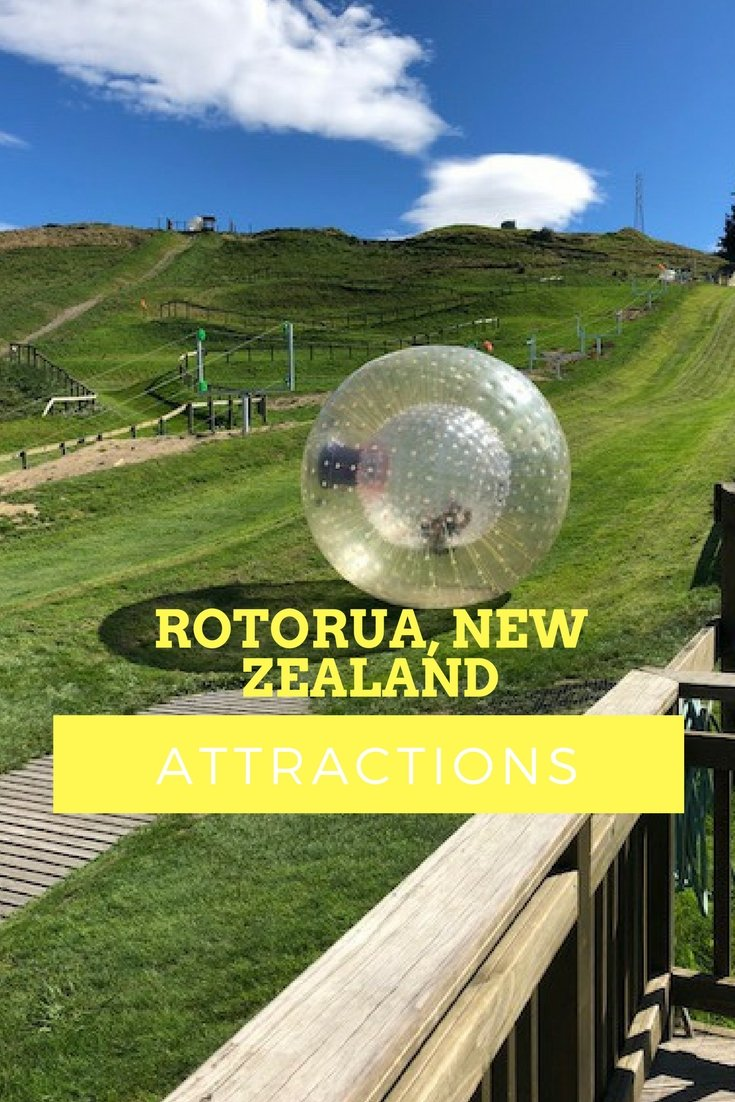 Rotorua New Zealand Attractions | Downhill Ball Rolling with OGO | #rotorua #newzealand #adventure #waterslide