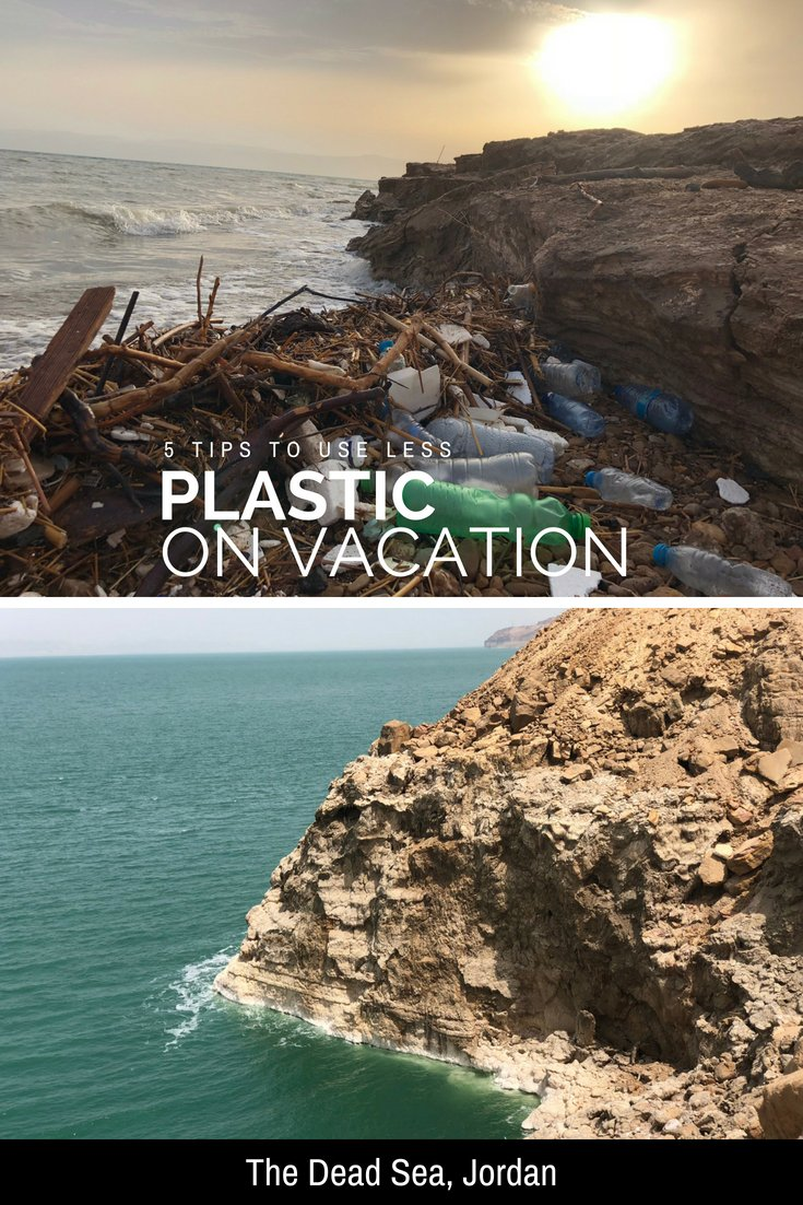 The Dead Sea Jordan - Single Use Plastics and how to avoid them on vacation