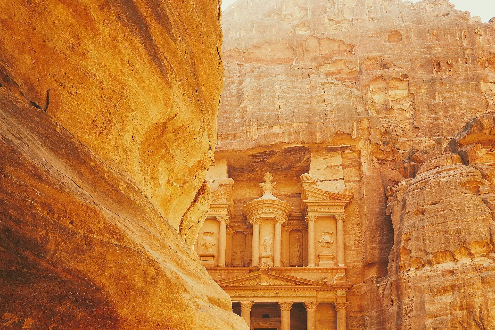 Petra Jordan - Entrance to the Treasury from the Siq