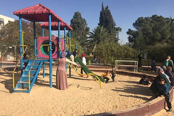 the Bird Aviary play area at the Hashem Gardens