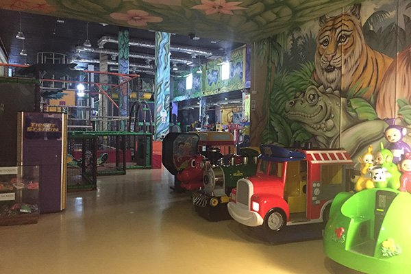 Inside Jungle Bungle Amman - On of the popular indoor activities in Amman for kids