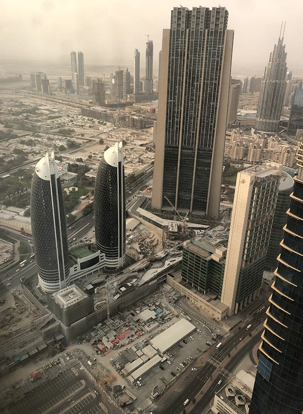 The World's tallest hotel's view in Dubai