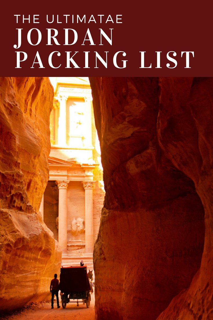 The Ultimate Jordan Packing List - Men, Women, Childrens packing lists as well as what to leave at home when you visit Jordan! #packingtips #petra #jordan #travel