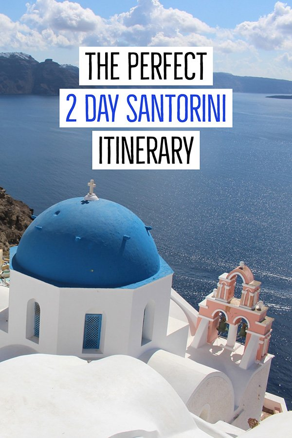 2 days in Santorini itinerary