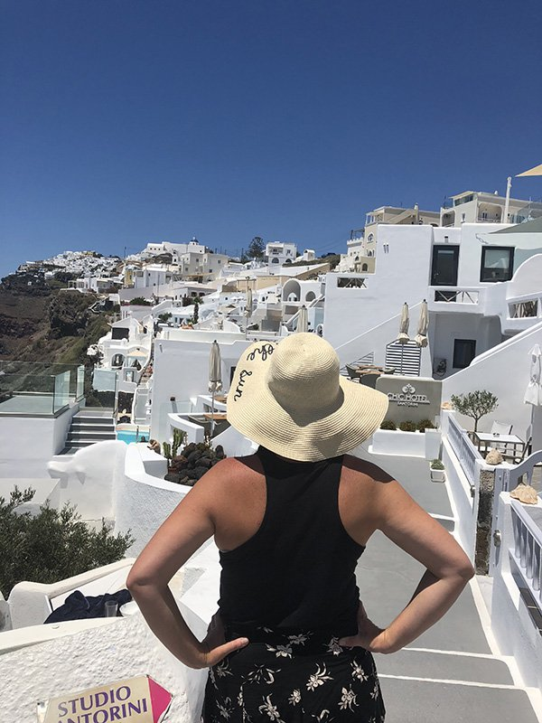 Wandering in Fira on our 2 Days in Santorini | Santorini Itinerary | Things to do in Santorini | Santorini Travel Tips