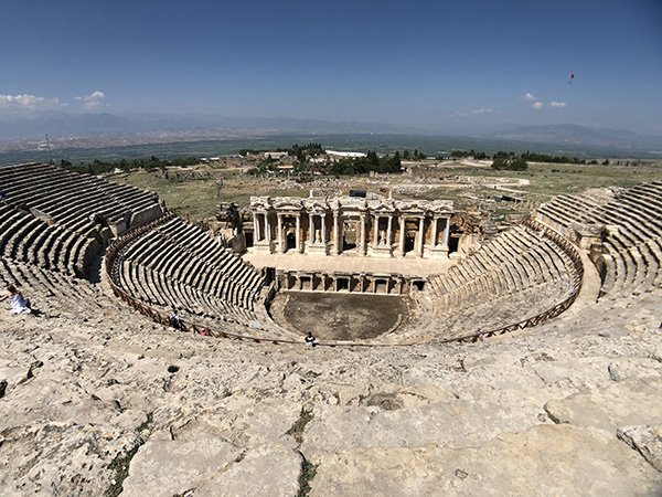Hieropolis Roman Theatre at Pamukkale Turkey