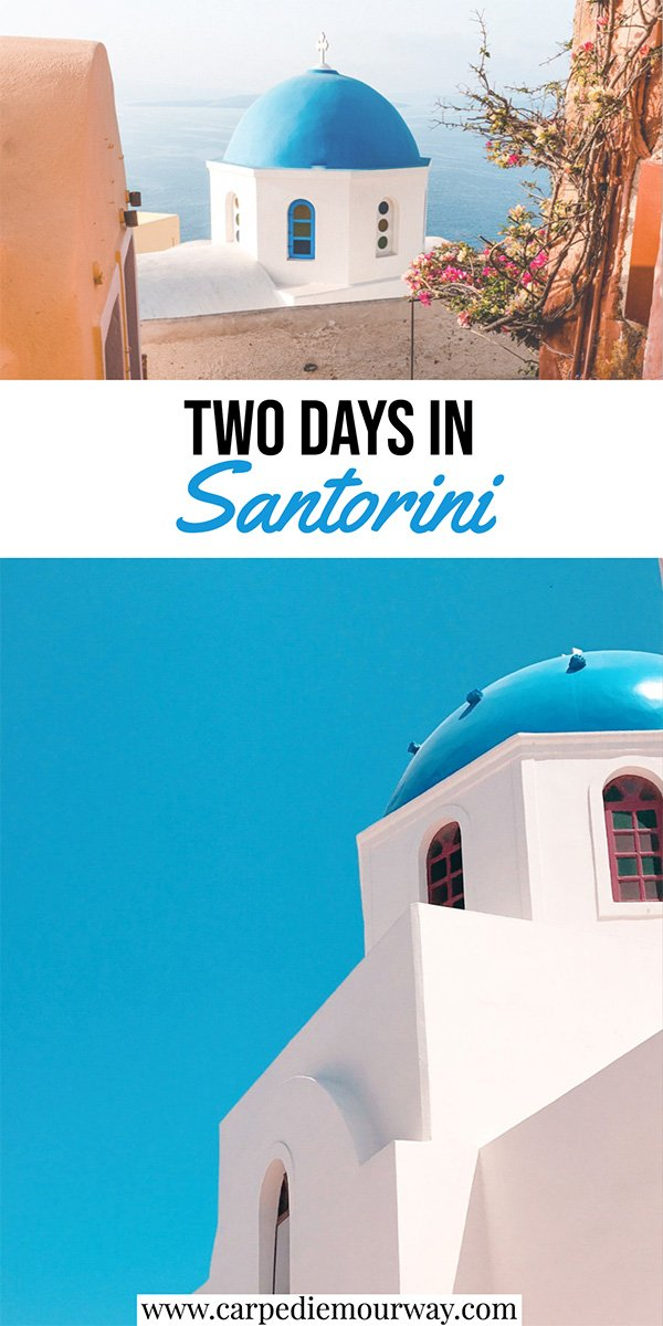 Santorini 2 Days Itinerary