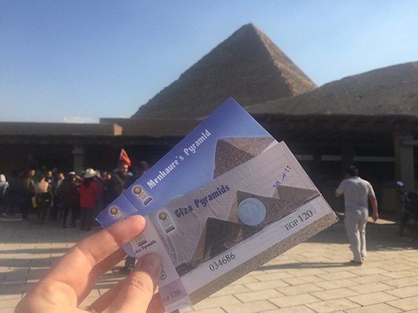 Menkaure Pyramid entrance fee in Giza Pyramids