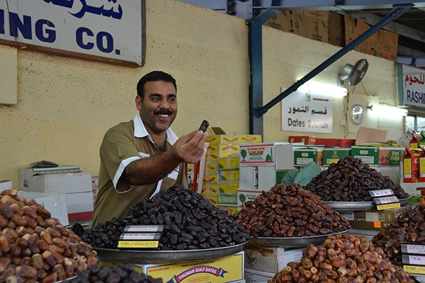 Souvenirs from Dubai include dates and spices