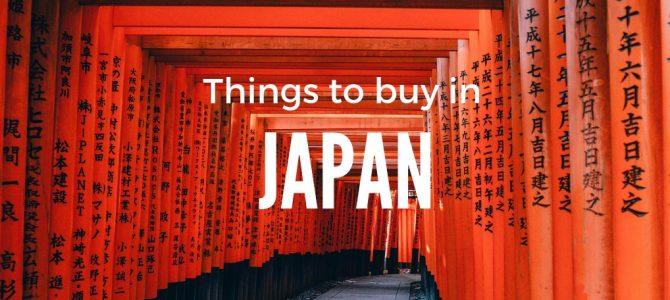 Things to buy in Japan