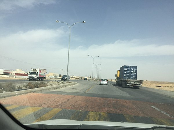 Speed bumps in Jordan highway