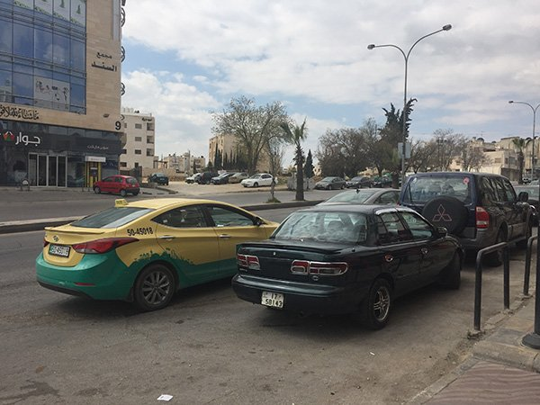 Double parking in Jordan