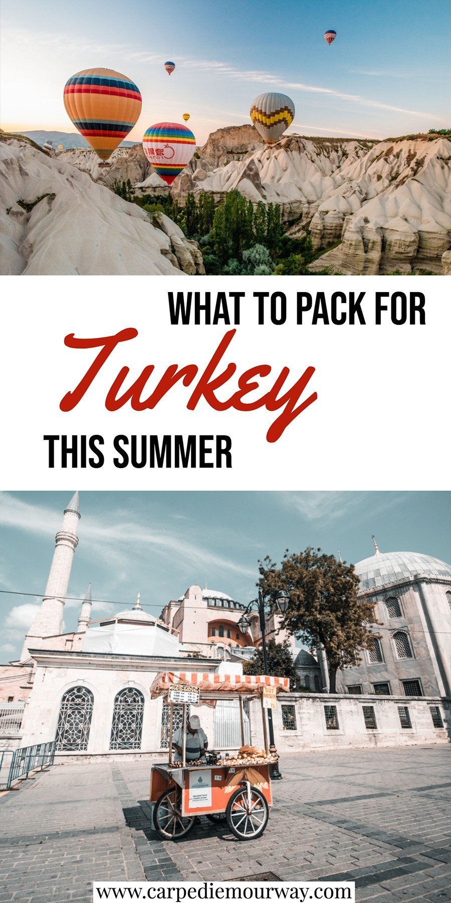 Turkey Packing List for Summer June, July, August, September