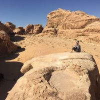 hiking in Jordan trekking