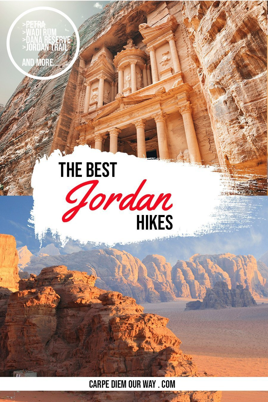 Hiking in Jordan and Trekking in Jordan