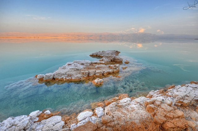 The Dead Sea in Jordan in Winter