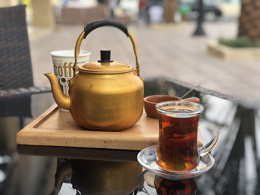 Winter in Jordan means lots of time for tea