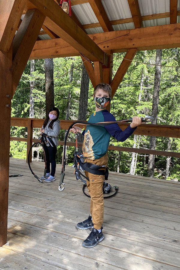 TAG Adventures TreeTop Ropes Couse Whistler