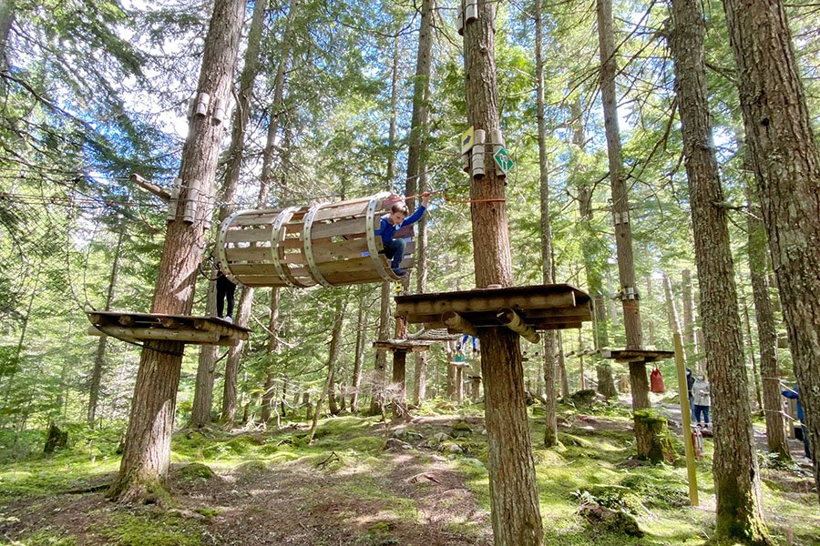 Tree Top Kids Ropes Course Whistler Review