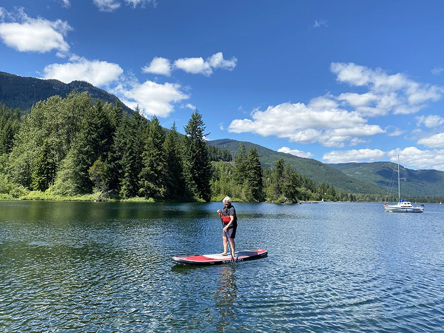 Multigenerational Activities in Whistler Paddle Boarding