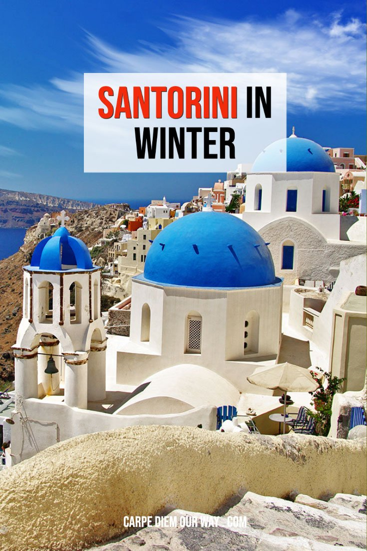 Santorini in Winter