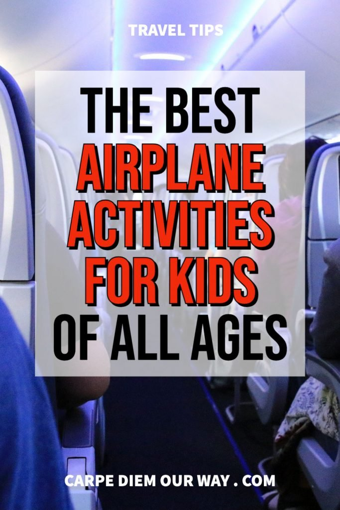 Airplane activities for kids of all ages.