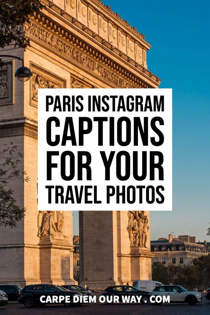 Paris Instagram Captions for your Travel Photos