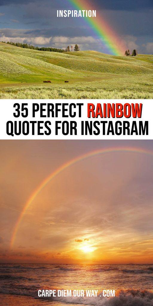 Rainbow captions for Instagram photos.