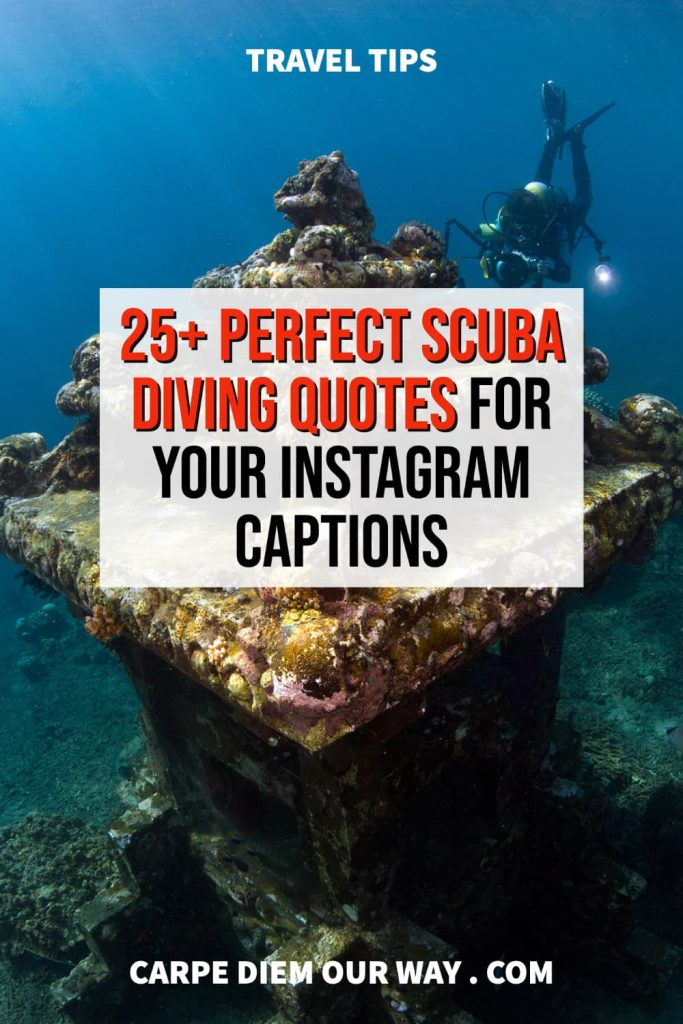 The perfect scuba diving captions for instagram.