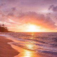 Beach captions for Instagram - beach sunset.