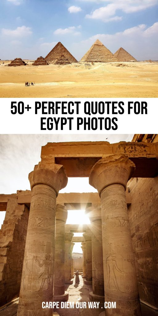 Perfect egypt captions for instagram.