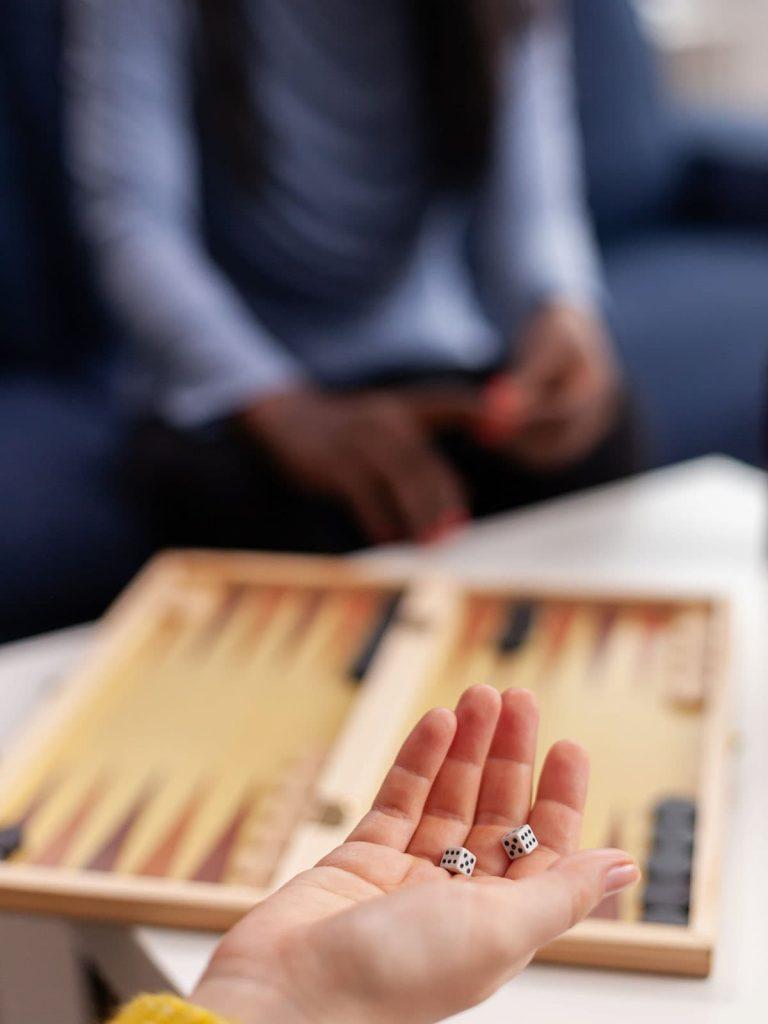 Greek backgammon board souvenir and gift idea.