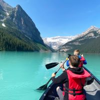 Driving from Vancouver to Banff with kids.