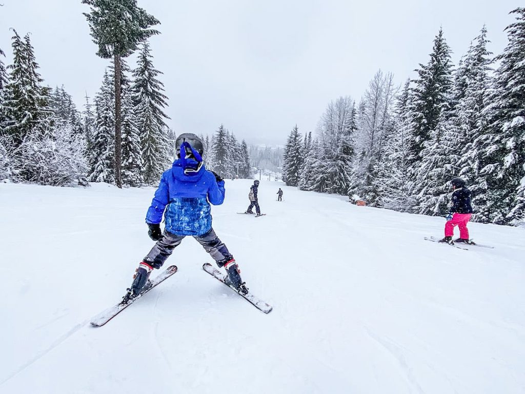 Whistler British Columbia - Kids Skiing the bunny hill