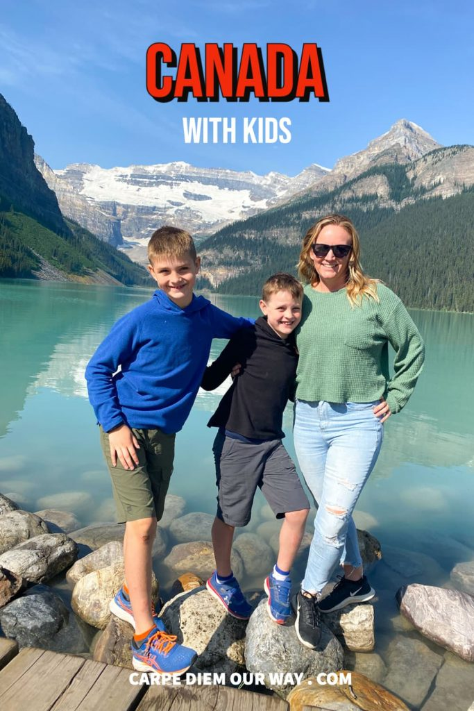 visiting Canada with kids - photo from lake louise banff national park
