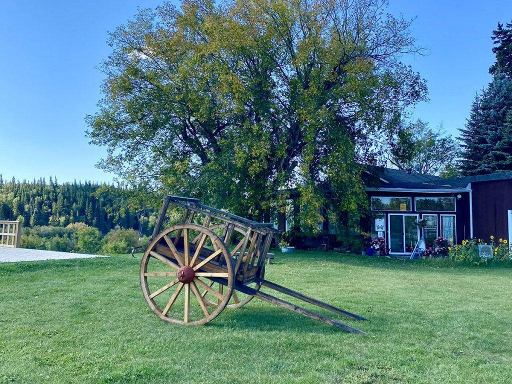 Alberta - Red River Cart at Metis Crossing